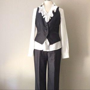Nine West Suit Set - Pinstriped